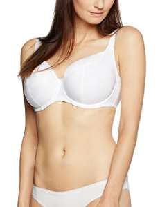 IRIS & LILLY Soutien-Gorge Maintien Renforcé Femme, Blanc (White), 36DD