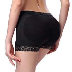 MissTalk Femmes Push Up monte Fesse Butt Lifter Invisible Culotte body shaper panty shapewear (M, Noir)