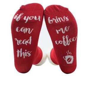 Dihope Unisexe Chaussettes en Coton Protège Pied Socquettes Socks Respirantes Casuals Lettres Imprimés