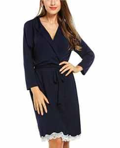 Avidlove Femme Pyjama Chemise de Nuit Peignoir de Bain en Coton S-XXL