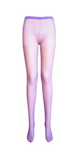 dames collants résille couture libre collants sexy 9 couleurs (petite net, 2 paire rose passion)