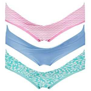 Intimate Portal Femme Pack Multiple de Slips Brésiliens de Maternité Sous le Ventre, 3 Lot, Rose Vert Bleu – S