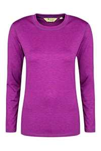 Mountain Warehouse T-shirt Femme Sous Pull Confortable Absorbant Respirant Panna Rouge Cerise 48
