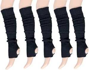krautwear Guêtres – Uni – Femme taille unique – Noir – taille unique