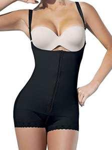 YIANNA Femme Bustiers Ajustable Corset Minceur Efficace Lingerie Sculptante Gaine Amincissante Shapewear,UK-YA7102-Black-XS