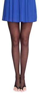 Merry Style Collants Transparent Femme Lycra MS 336 10 DEN (Noir, M (36-40))