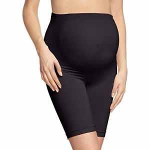 Noppies Seamless Shorts Long – Culotte – maternité – Femme – Noir – Schwarz (Black C270) – 36 (Taille fabricant: XS/S)