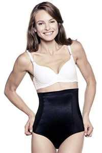 Taille haute pour femme par Amia A109 – Noir – Large
