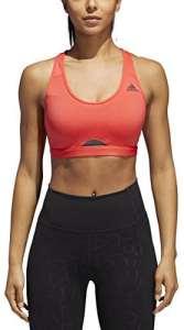 adidas Brassière de Training Dos nageur pour femme, femme, S17APW209, Real Coral, moyen