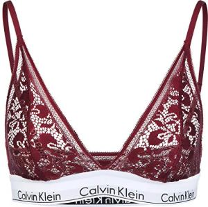Calvin Klein Unlined Triangle, Soutien-Gorge Triangulaire Femme, Rouge (Ember Blaze Zb7), 46L (Taille Fabricant: Large)