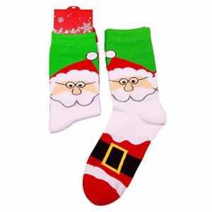Gdcat 1 Pcs de Chaussettes Femme Chaussettes Noël en Coton Respirantes Ultra Élastique et Confortable Chaussettes Fille pour Hiver Cadeau de Noël