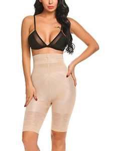 scallop Femme Culotte Gainante Taille Haute Panty Minceur avec Armature Body Gaine Amincissante Ventre Plat