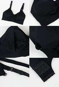 Soutiens-Gorge sans Couture S-XL de Soutien-Gorge de maternité de Soutien-Gorge d'infirmière avec Les Garnitures démontables de prévention de Renversement, Black, XL