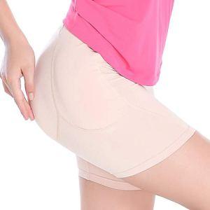 ONEFENG Culotte Push Up Fesse Fesse Rembourré 4 Invisible Tampons en Silicone/Éponge Fausse Fesse Femme Fessier Renforcement Pantalon de Sécurité pour Femme (S, Peau (4 tampons en Silicone))