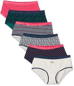 Dim Boxer Les Pockets Coton X6, Femme, Multicolore (Pretty Rose+Vegetal 89a), 44 (Taille Fabricant:44/46) (Lot de 6