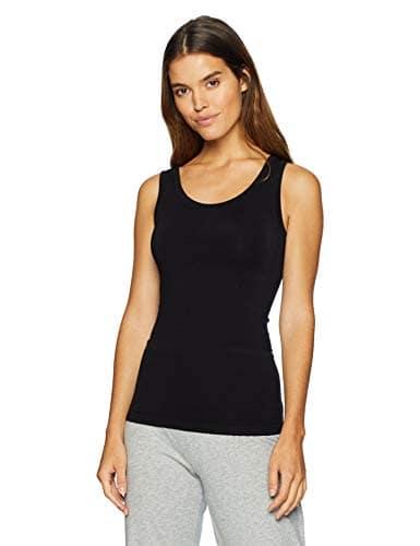 Yummie Femme YT5-188 Haut de sous-vêtement Gainant – Noir – Large/X-Large