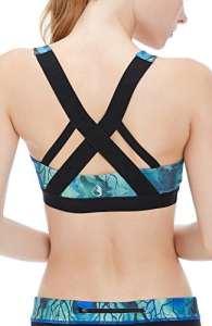 icyzone Femme Soutien-Gorge de Sport – sans Armature Dos Ouvert Lingerie Brassière pour Yoga Gym (XXL, Arbre)