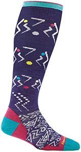 Darn Tough Vertex Over The Calf Ultra Light Sock – Women's Purple Large