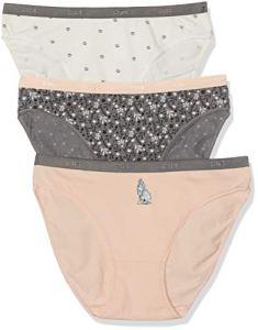 Dim Slip Les Pockets Coton X3 Multicolore (Lot Loup 8pc), 40 (Taille Fabricant:40/42) (3 Femme