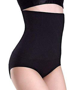 Sixyotie Femme Culotte Gaine Amincissante Ventre Plat Body Shaper Invisible Taille Haute Panty Culottes sculptantes (Noir, Tag XL / 2XL (taille 26 «-31»))