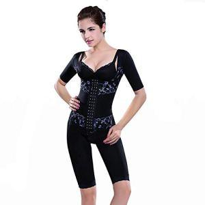 Unbekannt Femme Amincissant Invisible Shapewear Bodysuit Ajustable Body Sculptant Minceur Efficace Gaine Sculptantes Combinaisons Gainant,Black,XL