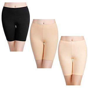 wirarpa Shorty Long Boxer Femme Jambes Longues Anti-Friction Cycliste Coton Lot de 3 Culotte Short Legging Invisible Taille XL