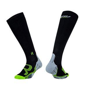 ZFLIN Chaussettes compressées Chaussettes de Compression de Basketball Chaussettes Respirantes Anti-dérapantes pour Le Ski de Fond-Black-L