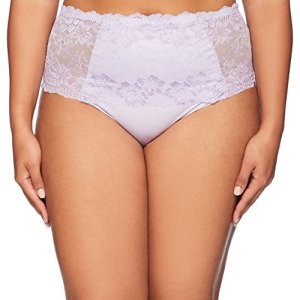Ahh By Rhonda Shear Women's Lace Brief, Lavender, Large