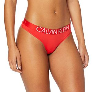 Calvin Klein Thong String Femme ,Rouge (Fever Dream Dfu) , Small