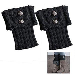 LHKJ 1 Paires Bas Guêtre Jambières Legging Chausettes Hiver Chaud Tressé Tricot Femme