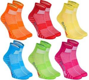 Rainbow Socks 6 paires de Chaussettes Modernes, Originales et Sportives dans 6 couleurs à la mode. Fabriqués dans l'UE! Tailles 42 43 Idéals pour que le Pied Puisse Respirer! Top Qualité! Oeko-Tex!