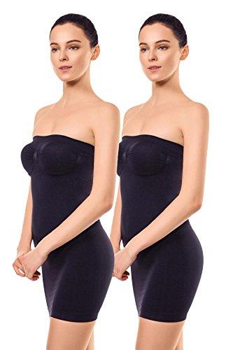 +MD Robe Bustier Gainante Effet Sculptant Femme Combinaisons Sculptantes Shapewear Black2M