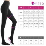 Fytto 1026| Collant de Contention Classe 2 – Compression Médicale Graduée 15-20mmHg – Bas de Maintien, Femme, Noir, M