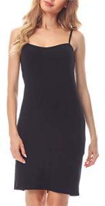 Merry Style Fond de Robe Lingerie Femme MS10-203(Noir, S)