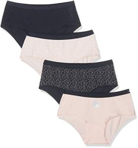 Dim Boxer Pocket Coton Femme,Multicolore (Lot Lune 6oj) , 36 (Taille fabricant:36/38) (Lot de 4)