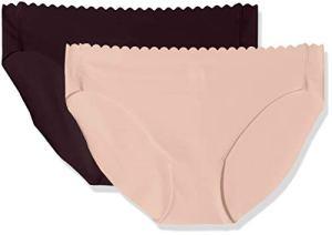 Dim Slip Body Touch Microfibre X2, Multicolore (Violet Précieux/Skin Rose 8px), 40 (Taille Fabricant:40/42) (Lot de 2) Femme