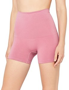 Iris & Lilly Short Gainant Sans Coutures Femme, Rosa (Old Rose), Large