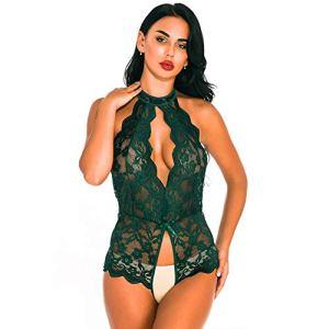 Nouvelle lingerie sexy féminine se sentant creux accrochant transparent suspendu combinaison ouverte amusant fichier