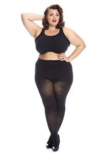 All woman Collant grande taille plus size XXL 50D – Noir – 56/60 Paris Lady