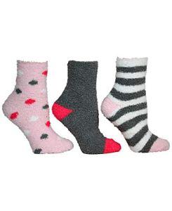 Betsey Johnson Women's Cozy Sock, Pink, One Size