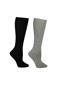 Betsey Johnson Women's Lurex Slouchy Boot Sock BJ42024, black/grey, One Size