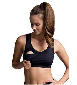 BOOB® Soutien-gorge de sport innovant avec focntion allaitement soutien-gorge de grossesse soutien-gorge de grossesse, taille L, noir