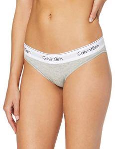 Calvin Klein Underwear 0000F3787E – Culotte – Uni – Femme, Gris, 38 Inches (taille Fabricant: M)
