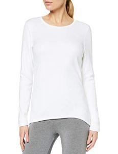 Damart Manches Longues Double Chaleur Thermolactyl Degré 5, Haut Thermique Femme, Blanc (Blanc), 38 (Taille Fabricant: S)