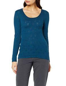 Damart Tee Shirt Manches Longues Haut Thermique, Bleu (Pétrole 56678-08210-), 50 (Taille Fabricant:XL) Femme