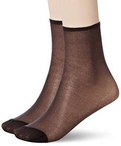 Dim Socquettes Sublim voile brillant bord sans compression X2 Socquettes Femme NA Noir (Noir) Taille unique (Taille fabricant: 35/41) 2lot de2