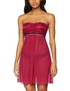 edc by Esprit 048cf1t008 Baby Dolls, Rouge (Cherry Red 615), 95B (Taille Fabricant: 80B) Femme