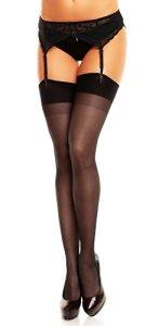 Glamory Perfect 20 Bas pour porte-jarretelles, 20 DEN, Noir (Schwarz), Taille Fabricant: X-Large-(48-50) Femme