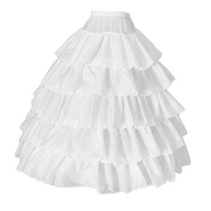HomeDecTime Femmes Filles Robe 4 Cerceaux Jupe Sous Jupe Robe Enfants Jupon Crinoline