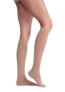 Juzo Soft Knee High 20-30mmHg Open Toe, I, Black by Juzo